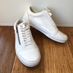 45e3ff7ee58ae Vans Shoes - ▫️VANS▫ Smooth Leather Old Skool Zip DX Sneakers
